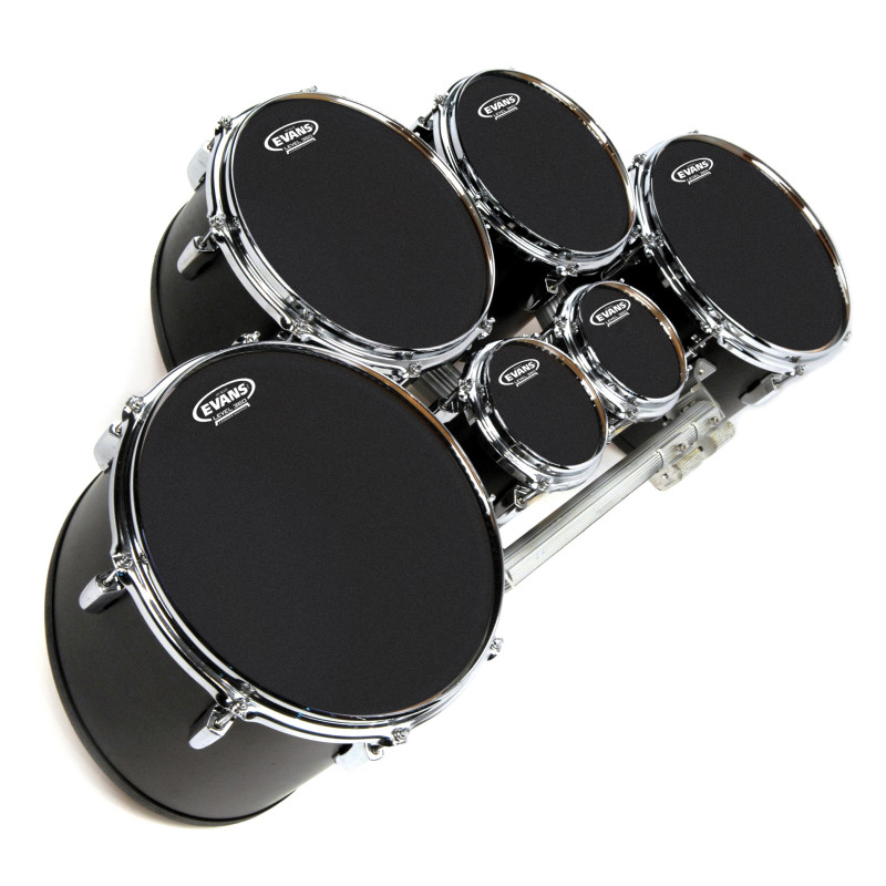 Evans MX Black Marching Tenor Drum Head, 13 Inch