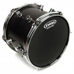 Evans Hydraulic Black Drum Head, 16 Inch