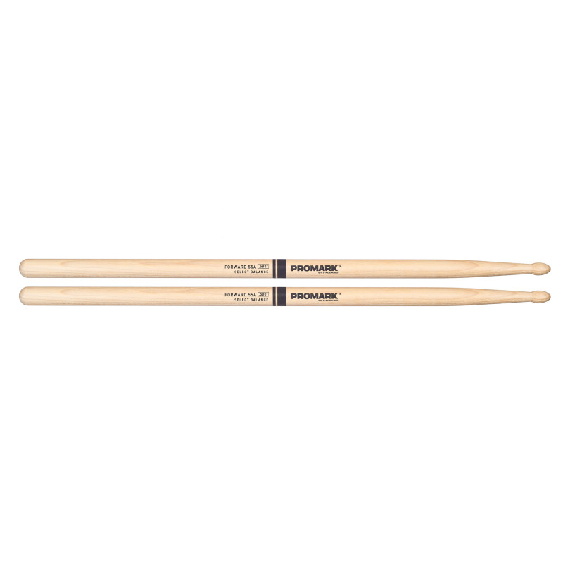 "ProMark Forward Balance Drum Stick, Wood Tip, .580"" (55A)"