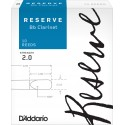 D'Addario Reserve Bb Clarinet Reeds, Strength 2.0, 10-pack