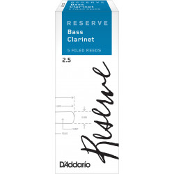 D'Addario Reserve Bass Clarinet Reeds, Strength 2.5, 5-pack