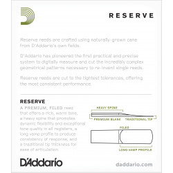D'Addario Reserve Soprano Saxophone Reeds, Strength 4.0, 10-pack