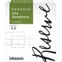 D'Addario Reserve Alto Saxophone Reeds, Strength 4.0, 10-pack