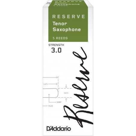 D'Addario Reserve Tenor Saxophone Reeds, Strength 3.0, 5-pack