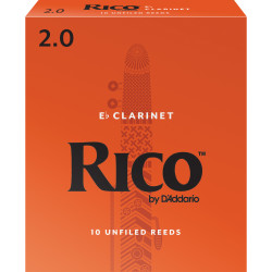 Rico by D'Addario Eb Clarinet Reeds, Strength 2, 10-pack