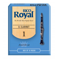 Rico Royal Eb Clarinet Reeds, Strength 1.0, 10-pack