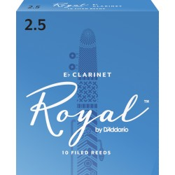 Rico Royal Eb Clarinet Reeds, Strength 2.5, 10-pack