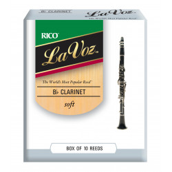 La Voz Bb Clarinet Reeds, Strength Soft, 10-pack
