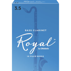 Rico Royal Bass Clarinet Reeds, Strength 3.5, 10-pack