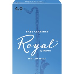 Rico Royal Bass Clarinet Reeds, Strength 4.0, 10-pack