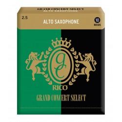 Rico Grand Concert Select Alto Sax Reeds, Strength 2.5, 10-pack