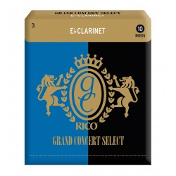 Rico Grand Concert Select Eb Clarinet Reeds, Strength 3.0, 10-pack