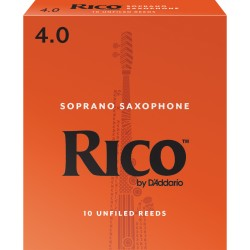 Rico by D'Addario Soprano Sax Reeds, Strength 4, 10-pack
