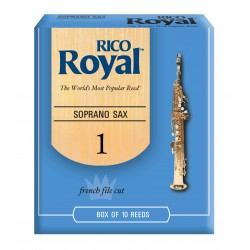 Rico Royal Soprano Sax Reeds, Strength 1.0, 10-pack