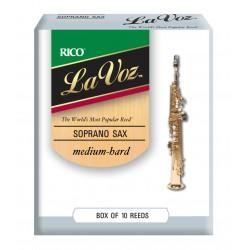 La Voz Soprano Sax Reeds, Strength Medium Strength Hard, 10-pack