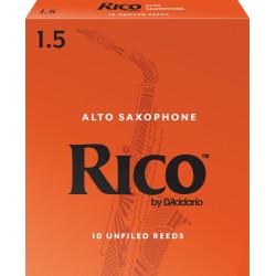 Rico Alto Sax Reeds, Strength 1.5, 10-pack