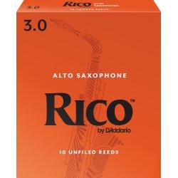 Rico Alto Sax Reeds, Strength 3.0, 10-pack