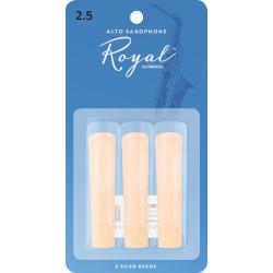 Rico Royal Alto Sax Reeds, Strength 2.5, 3-pack