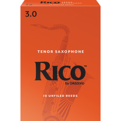 Rico Tenor Sax Reeds, Strength 3.0, 10-pack