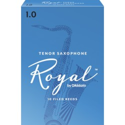 Rico Royal Tenor Sax Reeds, Strength 1.0, 10-pack