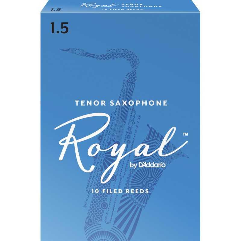 Rico Royal Tenor Sax Reeds, Strength 1.5, 10-pack
