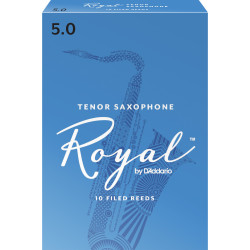 Rico Tenor Sax Reeds, Strength 5.0, 10-pack