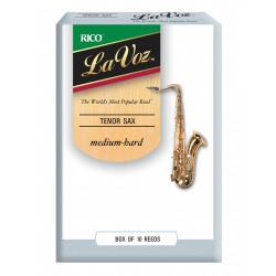 La Voz Tenor Sax Reeds, Strength Medium-Hard, 10-pack