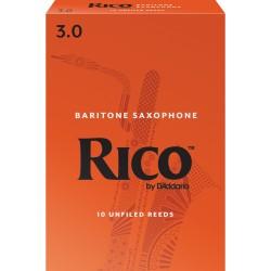 Rico Baritone Sax Reeds, Strength 3.0, 10-pack
