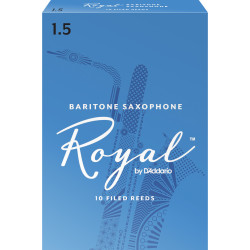 Rico Royal Baritone Sax Reeds, Strength 1.5, 10-pack