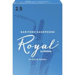 Rico Royal Baritone Sax Reeds, Strength 2.5, 10-pack