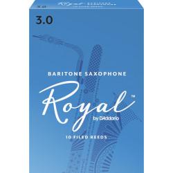 Rico Royal Baritone Sax Reeds, Strength 3.0, 10-pack
