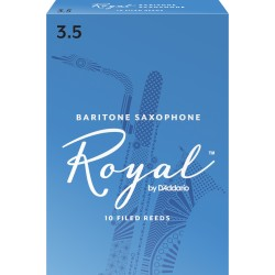 Rico Royal Baritone Sax Reeds, Strength 3.5, 10-pack