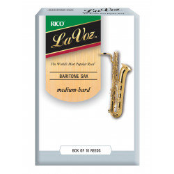 La Voz Baritone Sax Reeds, Strength Medium-Hard, 10-pack