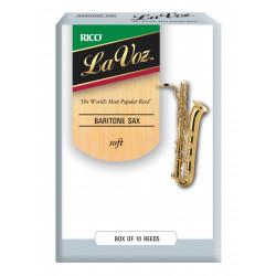 La Voz Baritone Sax Reeds, Strength Soft, 10-pack