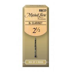Mitchell Lurie Premium Bb Clarinet Reeds, Strength 2.5, 5-pack