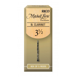 Mitchell Lurie Premium Bb Clarinet Reeds, Strength 3.5, 5-pack