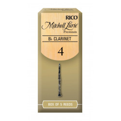 Mitchell Lurie Premium Bb Clarinet Reeds, Strength 4.0, 5-pack