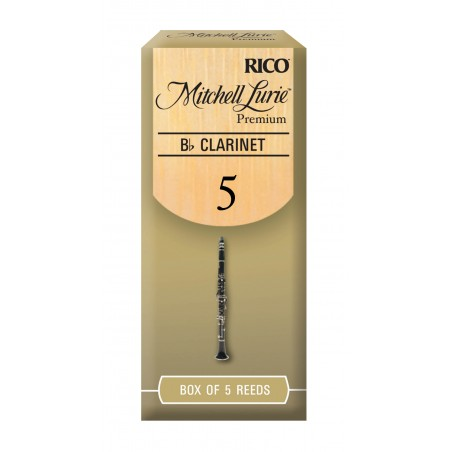 Mitchell Lurie Premium Bb Clarinet Reeds, Strength 5.0, 5-pack