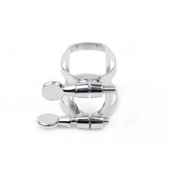 Rico Ligature & Cap, Tenor Sax for Hard Rubber Mouthpieces, Nickel Plated