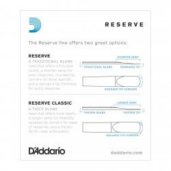 D'Addario Reserve Bb Clarinet Reeds, Strength 4.5, 10-pack
