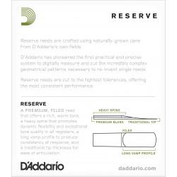 D'Addario Reserve Soprano Saxophone Reeds, Strength 2.5, 10-pack
