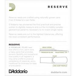 D'Addario Reserve Alto Saxophone Reeds, Strength 2.0, 10-pack