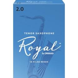 Rico Royal Tenor Sax Reeds, Strength 2.0, 10-pack