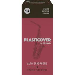 Rico Plasticover Alto Sax Reeds, Strength 1.5, 5-pack