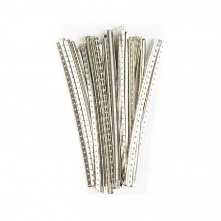 "Dunlop JD6S6000 Ultra Jumbo Frets, 18% Nickel/ Silver, 2-5/8"" Cut, 24 Pieces"