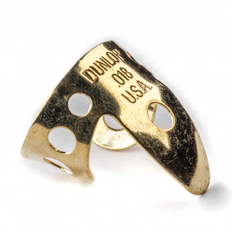 Dunlop 37R-018 0.018mm Brass Fingerpicks 20 Pack