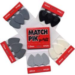 1.0mm Match Pik Guitar Picks - 12 Livres
