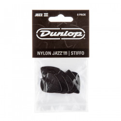 Noir Stiffo Nylon Jazz III médiator