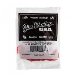 Guitare Tortex® Teardrop Rouge 0.50mm (72/pack)