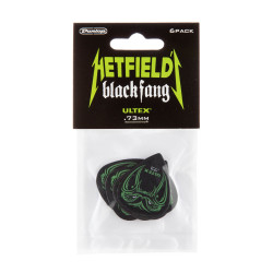 Hetfield Black Fang Guitare Médiator 0.73mm (6 Pièces)